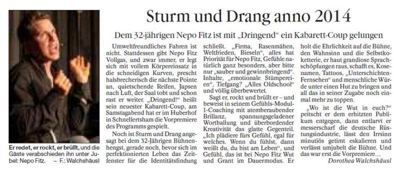 140127_Passauer Neue Presse_Interview_Dorothea_Walchhaeusl_Nepo Fitz